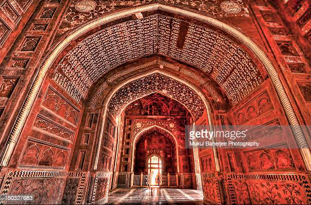 arches of taj mahal mosque_2, agra - interior of taj mahal stock pictures, royalty-free photos & images