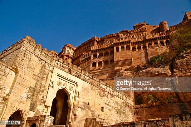 arches of the mehrangarh fort - jodhpur stock pictures, royalty-free photos & images