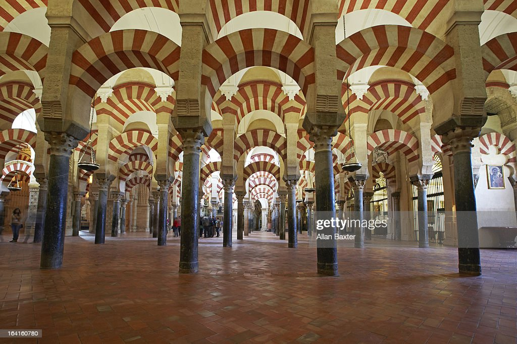 Arches of the Mosque Cathedral of Cordoba : Stock Photo