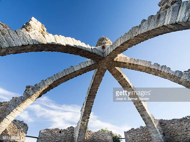 Arches that were supporting a roof of a great wine-cellar of medieval epoch used to gather the snow