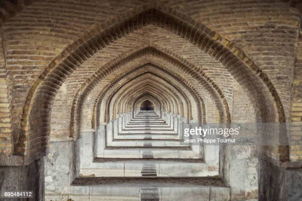 Arches under Khaju Bridge, Isfahan, Iran