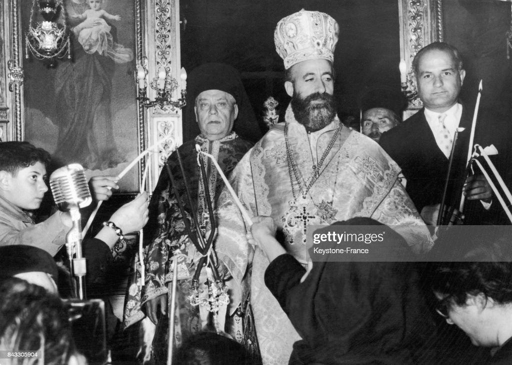 Makarios III à Athènes : News Photo