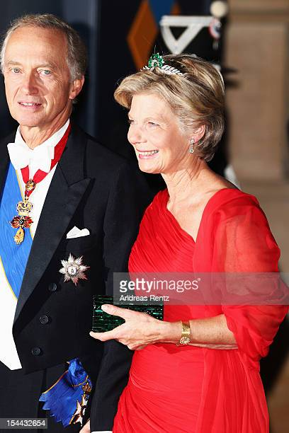 Archi Duke Christian of Austria and Archi Duchess MarieAstrid of Austria attend the Gala dinner for the wedding of Prince Guillaume Of Luxembourg and...