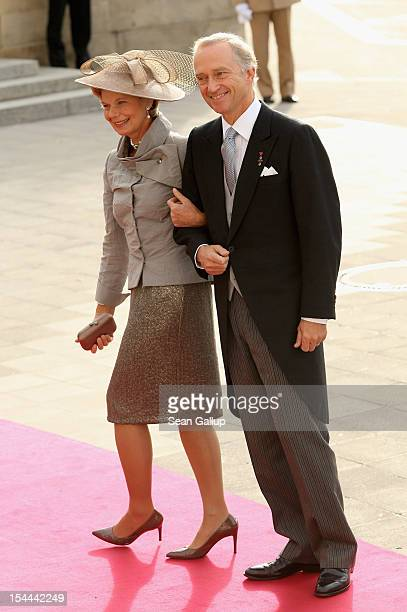 Archi Duke Christian of Austria and Archi Duchess MarieAstrid of Austria attends the wedding ceremony of Prince Guillaume Of Luxembourg and Princess...