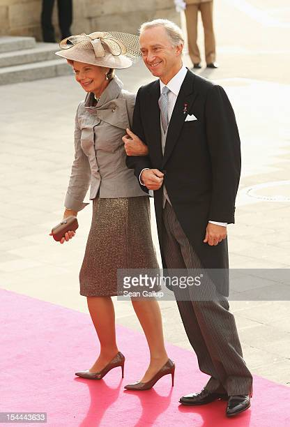 Archi Duke Christian of Austria and Archi Duchess MarieAstrid of Austria attend the wedding ceremony of Prince Guillaume of Luxembourg and Princess...