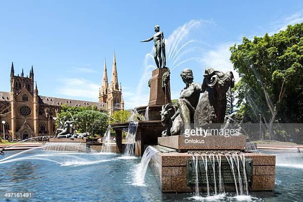 Archibald Fountain in Hyde Park, Sydney, Australia
