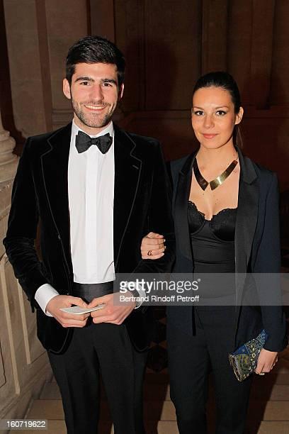 Archibald Pearson de Brantes and Larah Loutati attend the gala dinner of Professor David Khayat's association 'AVEC' at Chateau de Versailles on...