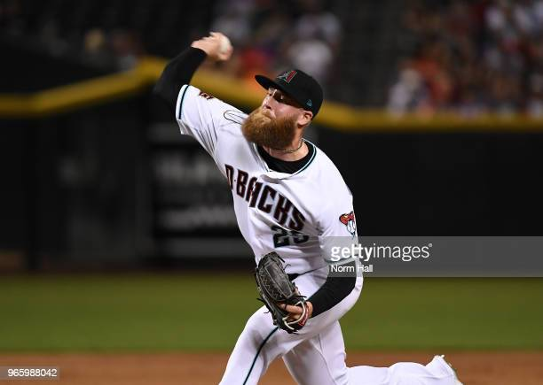 Archie Bradley of the Arizona Diamondbacks delivers a pitch against the Cincinnati Reds at Chase Field on May 29 2018 in Phoenix Arizona