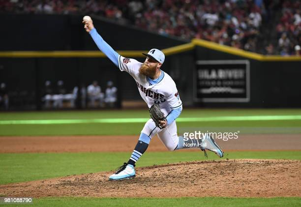 Archie Bradley of the Arizona Diamondbacks delivers a pitch against the New York Mets at Chase Field on June 17 2018 in Phoenix Arizona