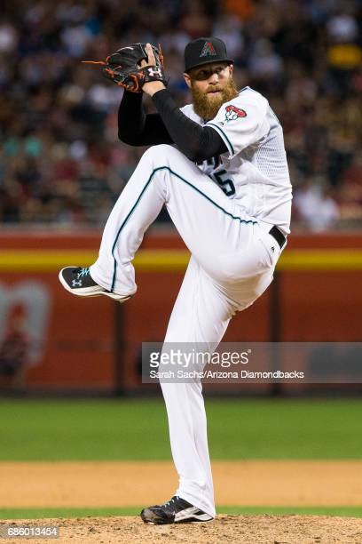 Archie Bradley of the Arizona Diamondbacks prepares to deliver a pitch at Chase Field on May 16 2017 in Phoenix Arizona