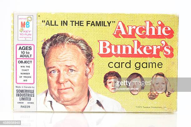 archie bunker's card game - archie_bunker stock pictures, royalty-free photos & images