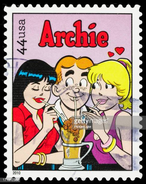usa archie comic postage stamp - animation stock pictures, royalty-free photos & images