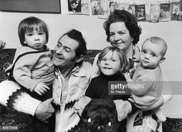 Archie Croll with his wife Caroline and their grandchildren Barrie Bruce Rebecca Tucker and Anshollo Tucker 4th January 1980