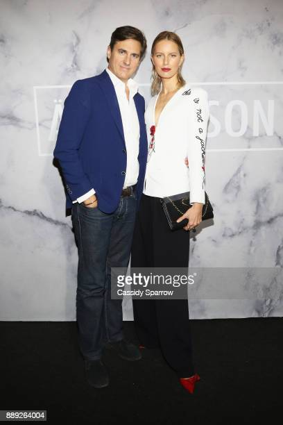 Archie Drury and Karolina Kurkova attend ART MAISON celebrates Daniel Arsham Fellowship with National YoungArts Foundation presented by SHOPCOM DNA...