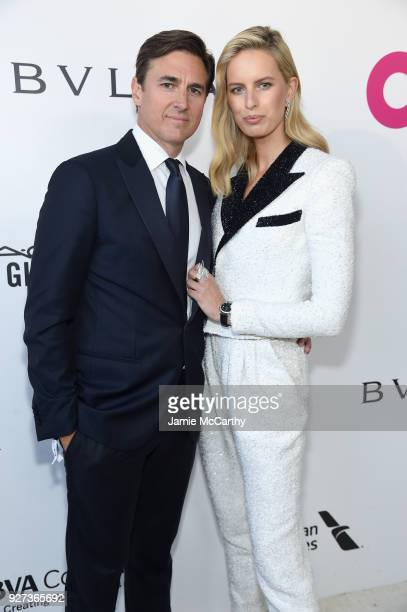 Archie Drury and Karolina Kurkova attend the 26th annual Elton John AIDS Foundation Academy Awards Viewing Party sponsored by Bulgari celebrating...