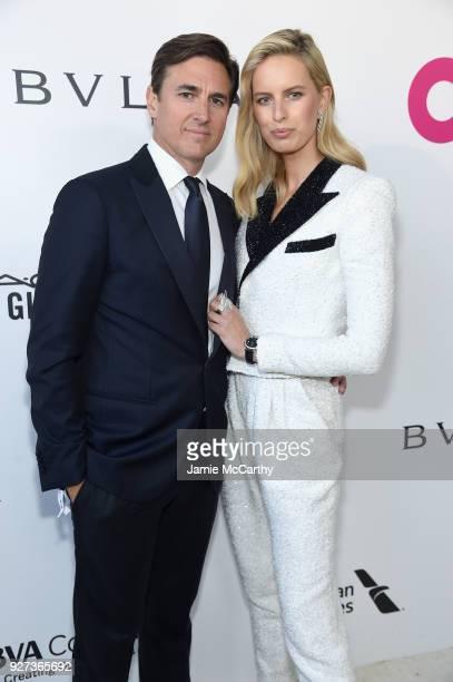 Archie Drury and Karolina Kurkova attend the 26th annual Elton John AIDS Foundation Academy Awards Viewing Party sponsored by Bulgari celebrating...