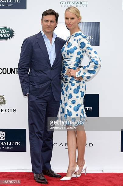 Archie Drury and Model Karolina Kurkova attend the Sentebale Royal Salute Polo Cup during the sixth day of HRH Prince Harry's visit to the United...