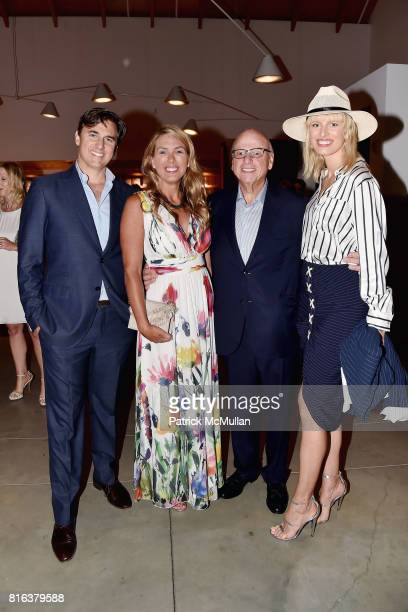 Archie Drury Susan Bordeaux Howard Lorber and Karolina Kurkova attend the Midsummer Party 2017 at Parrish Art Museum on July 15 2017 in Water Mill...