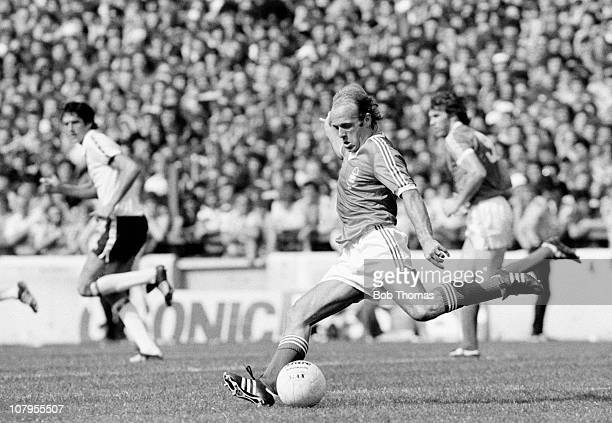 Archie Gemmill in action for Nottingham Forest during the Division One match against Tottenham Hotspur at the City Ground Nottingham on 19th August...