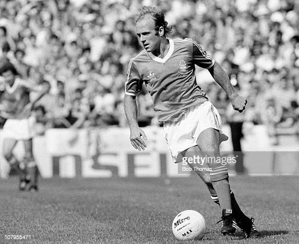 Archie Gemmill in action for Nottingham Forest during the First Division match against Tottenham Hotspur at the City Ground Nottingham on 19th August...