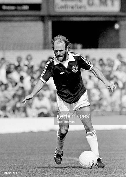 Archie Gemmill in action for Scotland against Wales in the British Home Championship match at the Racecourse Ground in Wrexham 28th May 1977 The...