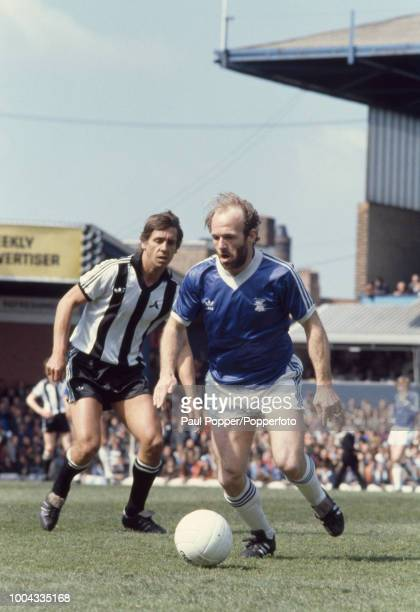 Archie Gemmill of Birmingham City on the ball watched by Don Masson of Notts County during a Football League Division One match at St Andrews on May...