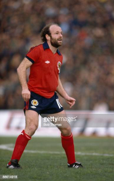 Archie Gemmill of Scotland during the Israel v Scotland match played in Tel Aviv Israel on the 25th February 1981