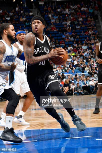 Archie Goodwin of the Brooklyn Nets handles the ball against the Orlando Magic during the game on April 6 2017 at Amway Center in Orlando Florida...