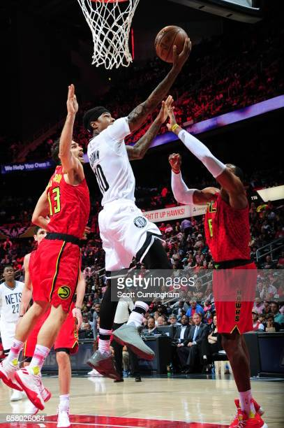 Archie Goodwin of the Brooklyn Nets shoots the ball against the Atlanta Hawks on March 26 2017 at Philips Arena in Atlanta Georgia NOTE TO USER User...
