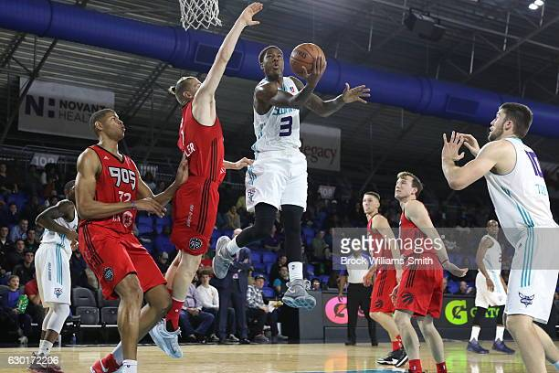 Archie Goodwin of the Greensboro Swarm goes up for Two during the game at the The Field House at the Greensboro Complex on December 17 2016 in...
