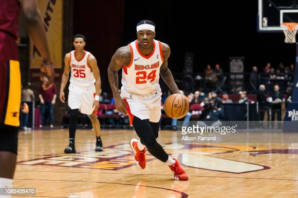 Archie Goodwin of the Maine Red Claws handles the ball against the Canton Charge during the NBA G League on January 19 2019 at the Canton Memorial...