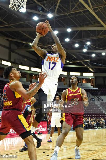 Archie Goodwin of the Northern Arizona Suns drives to the basket and shoots the ball against the Canton Charge during the NBA GLeague Showcase on...