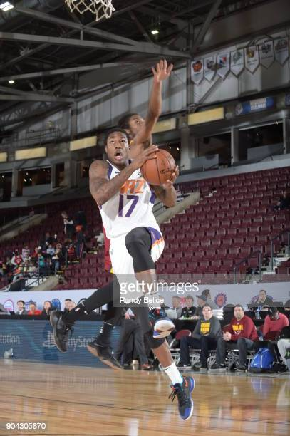 Archie Goodwin of the Northern Arizona Suns drives to the basket against the Canton Charge during the GLeague Showcase on January 12 2018 at the...
