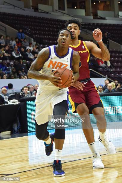 Archie Goodwin of the Northern Arizona Suns drives to the basket against the Canton Charge during the NBA GLeague Showcase on January 12 2018 at the...
