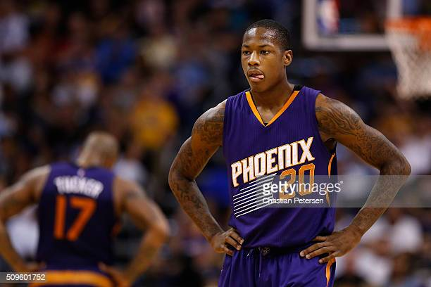 Archie Goodwin of the Phoenix Suns during the NBA game against the Golden State Warriors at Talking Stick Resort Arena on February 10 2016 in Phoenix...
