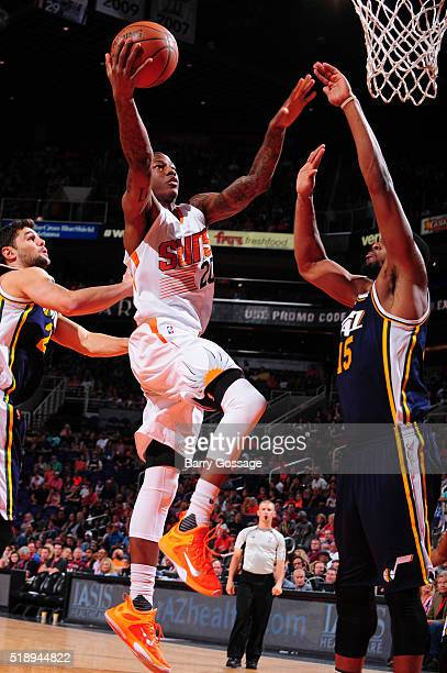 Archie Goodwin of the Phoenix Suns shoots the ball against the Utah Jazz on April 3 2016 at US Airways Center in Phoenix Arizona NOTE TO USER User...