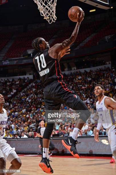 Archie Goodwin of the Portland Trail Blazers drives to the basket during the 2018 Las Vegas Summer League Championship game against the Los Angeles...