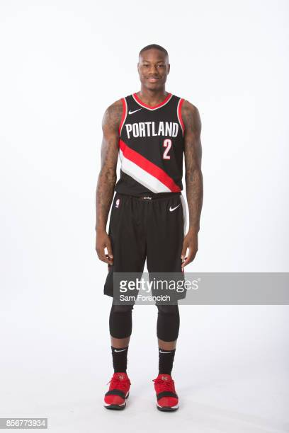 Archie Goodwin of the Portland Trail Blazers poses for a portrait during the 201718 NBA Media Day on September 25 2015 at the Moda Center in Portland...
