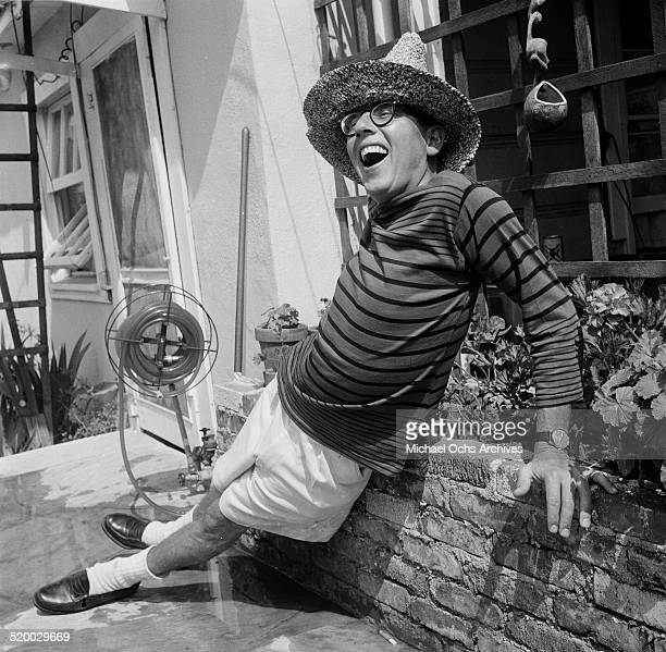 Archie MacDonald attends actress Debbie Reynolds pool party in Los AngelesCA