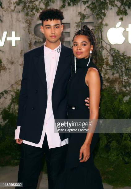 """Archie Madekwe and Nesta Cooper attends the world premiere of Apple TV+'s """"See"""" at Fox Village Theater on October 21, 2019 in Los Angeles, California."""