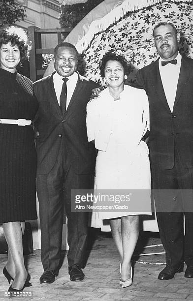 Archie Moore AfricanAmerican professional boxer and the Light Heavyweight World Champion his wife and another couple 1946