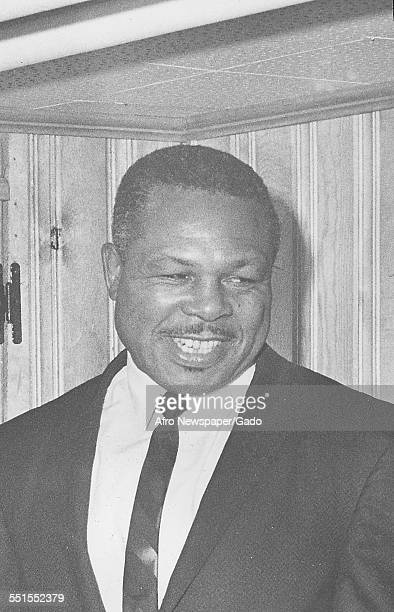 Archie Moore AfricanAmerican professional boxer and the Light Heavyweight World Champion 1963