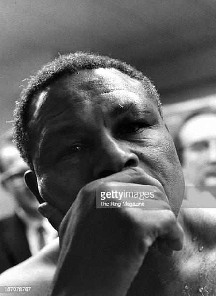 Archie Moore looks on after losing the fight against Cassius Clay at the Sports Arena on November 151962 in Los Angeles California Cassius Clay won...