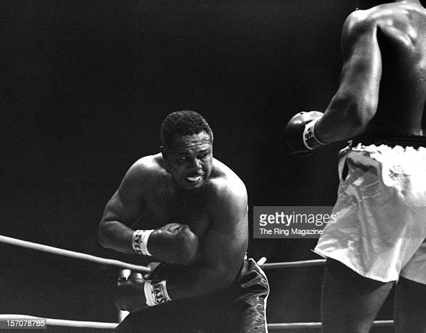 Archie Moore throws a punch to Cassius Clay during the fight at the Forum on November 15 1962 in Los Angeles California Cassius Clay won by a TKO 4