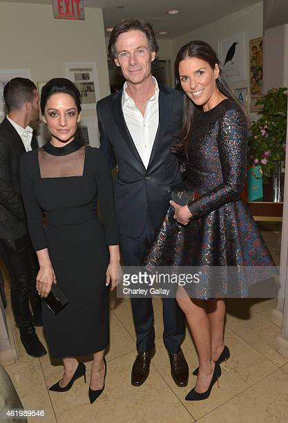 Archie Panjabi President Publisher Daily Front Row Paul Turcotte and honoree Ann Caruso attend The DAILY FRONT ROW Fashion Los Angeles Awards Show at...