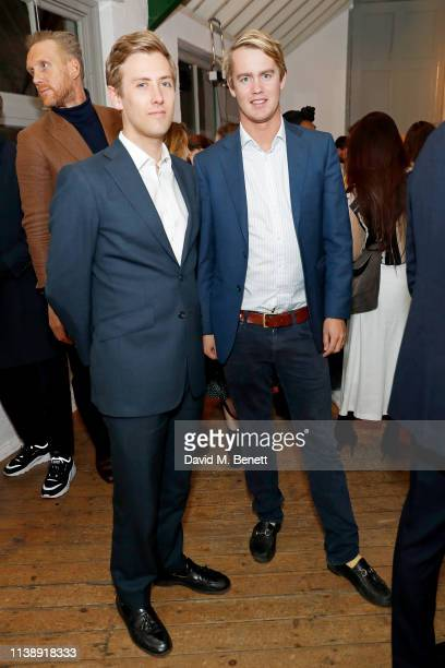 Archie Rutland and George Spencer-Churchill at the Gentleman's Journal e-commerce site unveiling at My Beautiful City on March 28, 2019 in London,...