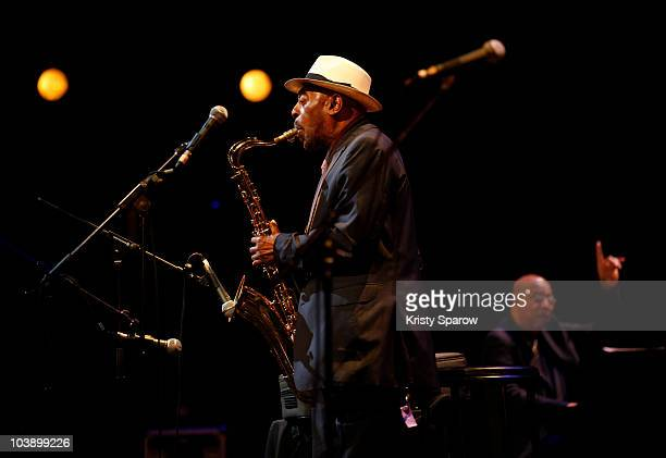 Archie Shepp and Chucho Valdes perform onstage during the Jazz A La Villette Festival at Grande Halle de La Villette on September 7 2010 in Paris...