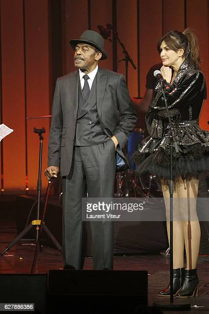 Archie Shepp and Helala Noguerra attend 'Grand Prix de la SACEM 2016' at Folies Bergeres on December 5 2016 in Paris France