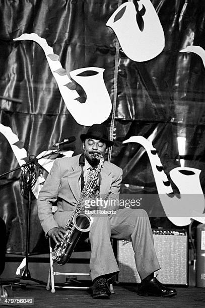 Archie Shepp performing at the New Orleans Jazz and Heritage Festival in New Orleans Louisiana on May 4 1995