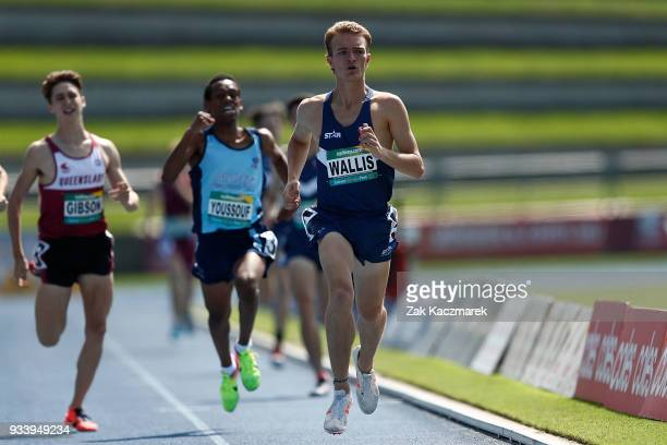 Archie Wallis competes in the Men's 800 metre Under 20 Preliminary Final during day four of the Australian Junior Athletics Championships at the...